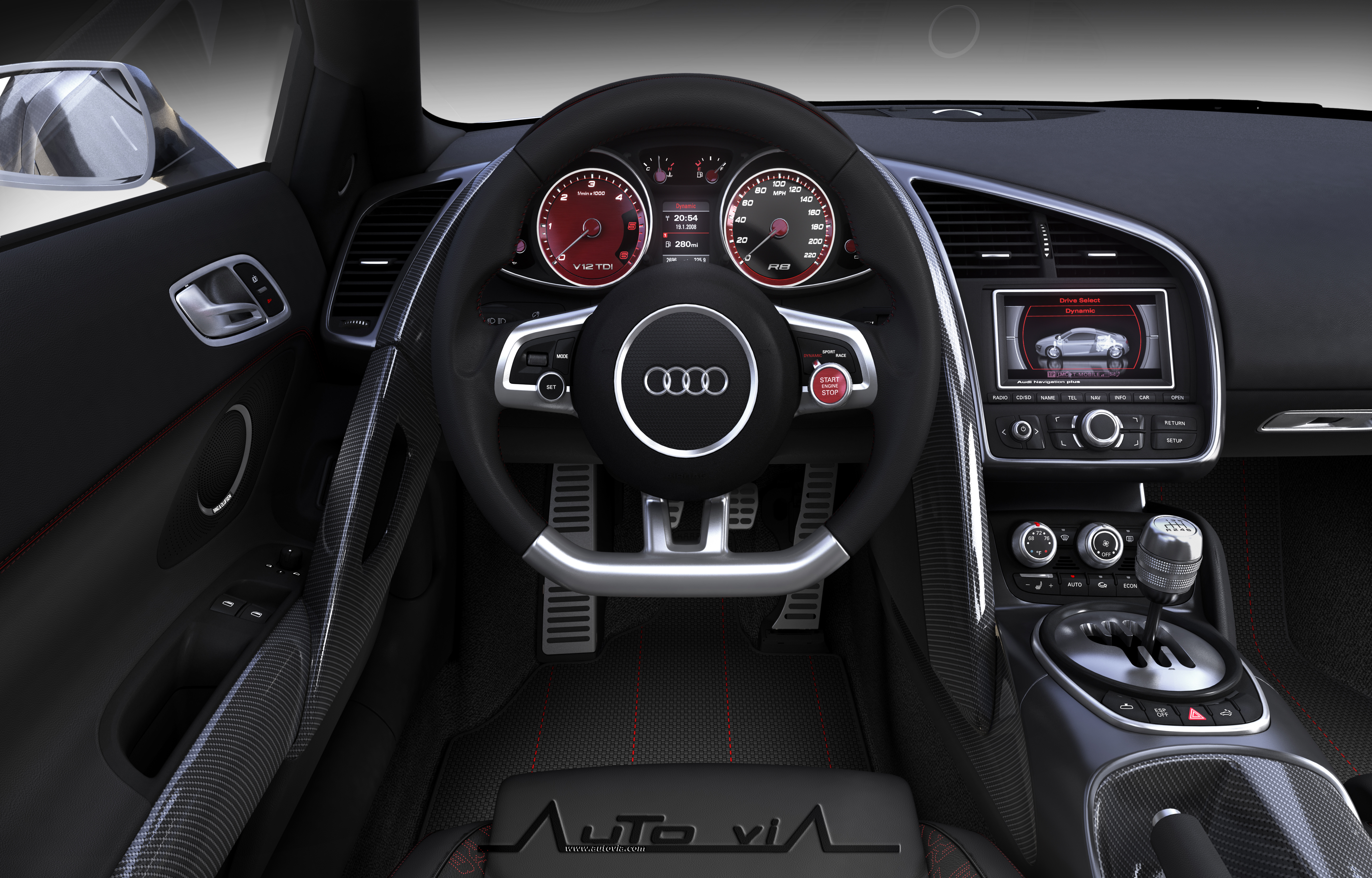 Audi r8 v12tdi 8 for Audi a4 onderdelen interieur